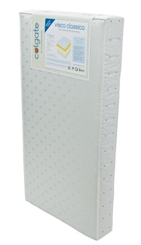Colgate Visco Classica - Foam Crib Mattress and Memory Foam Toddler Side with Waterproof Cover (Mattress Foam Crib Visco)