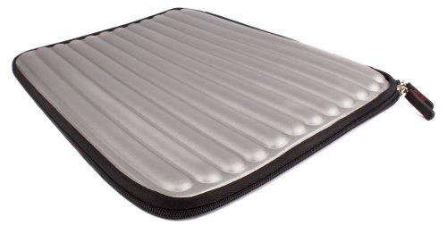 DURAGADGET Silver Memory Foam Sleeve With Dual Zips For HP Compaq Presario CQ58 250SA, HP Pavilion g6-2244sf AMD & HP 2000-2b09WM 15.6-Inch Laptop