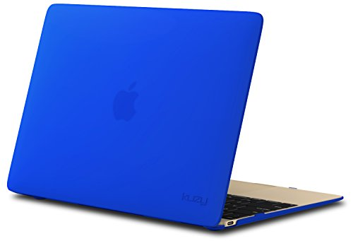 Kuzy MacBook 12 inch Case, Retina Display Model A1534 New 2018 2017 2016 2015 Soft Touch Hard Case Shell Cover - Blue