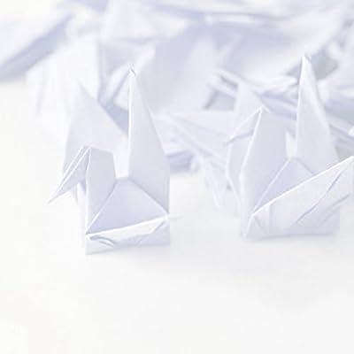 hilo de seda invisible forma de grulla decoraci/ón del hogar Guirnaldas de origami de Hangnuo para bodas