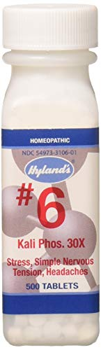(Hyland's Cell Salts Kali Phosphoricum 30X Tablets, Natural Relief of Stress, Simple Nervous Tension, Headaches, 500 Count)
