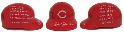 (Pete Rose Signed Cincinnati Reds Stat Helmet
