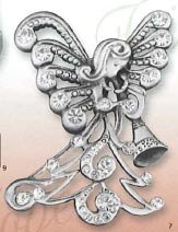 Nativity Pin - Cathedral Art CP812 Nativity Decorative Pin, 1-3/4-Inch