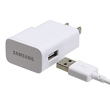Samsung 2.0 Amp Micro Home Travel Charger for Galaxy S3/S4/S5/Note 2/Note 3 - Non-Retail Packaging - White ETA-U90JWE-9795