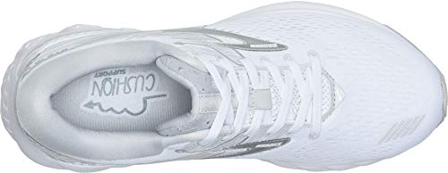 Brooks Women's Adrenaline GTS 19 White/White/Grey 5 B US by Brooks (Image #1)