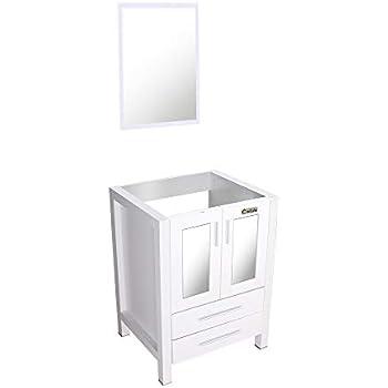 U eway 24 white bathroom vanity without top 2 drawers - White bathroom vanity without top ...