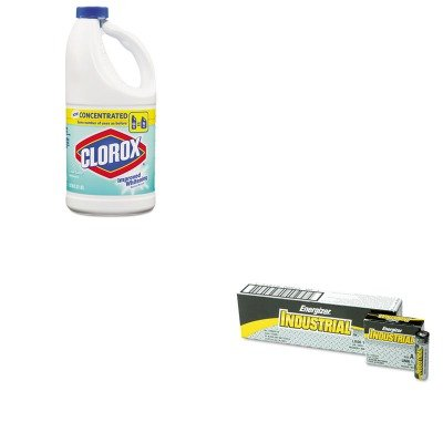 KITCOX30772EVEEN91 - Value Kit - Clorox Concentrated Scented Bleach (COX30772) and Energizer Industrial Alkaline Batteries (EVEEN91)