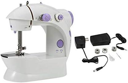 Máquina de coser portátil, multifunción, eléctrica, pequeña, fácil de usar, eléctrica, a medida, pequeña, blanca: Amazon.es: Hogar