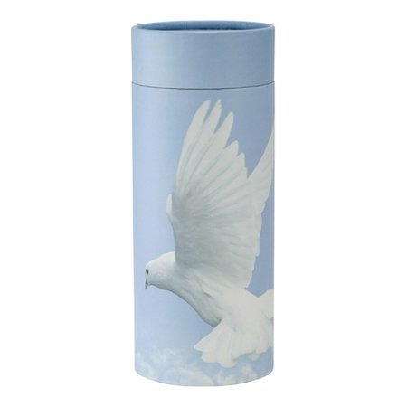 Urn Paper - Silverlight Urns Ascending Dove Scattering Tube, Biodegradable Urn for Scattering Ashes, 12 Inches Long, Cardboard and Paper Cremation Urn