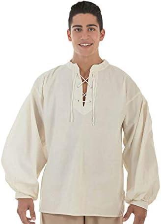 Creaciones Llopis Camisa Medieval Beige para Hombre: Amazon.es: Juguetes y juegos