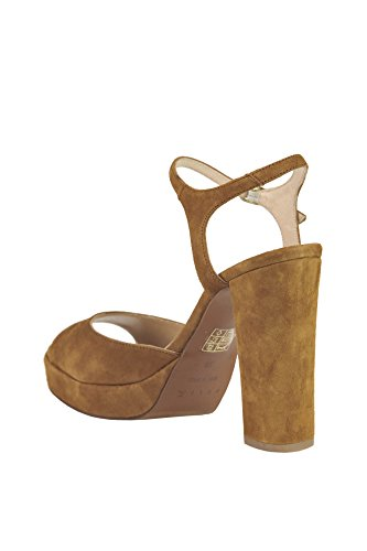 MCGLCAT03045E Brown HELIA Suede Sandals Women's fOqwax75