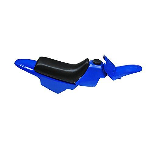 JFG RACING Fairing Plastic Gas Tank Kit Rear Fender - Yamaha PW50 PW 50 - Blue