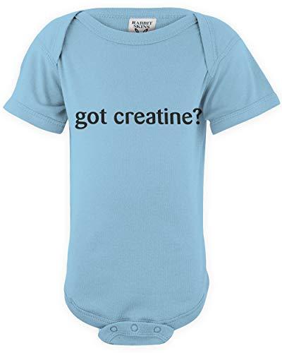 shirtloco Baby Got Creatine Infant Bodysuit, Light Blue 24 Months