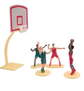 Bundleofbeauty Jn87u- 5piece Basketball and Hoop Cake Decoration (Hoop Decoration)