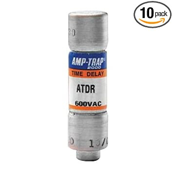 Mersen ATDR15 600V 15A Cc Time Delay Fuse, 10-Pack