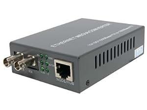 Gigabit Ethernet Fiber Media Converter - UTP to 1000Base-LX - ST Singlemode, ...