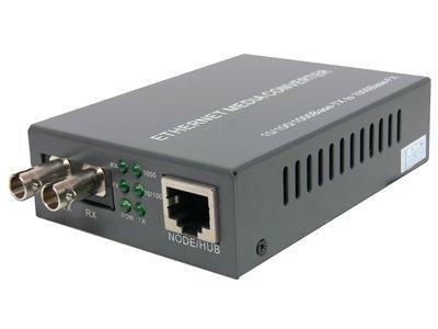 Gigabit Ethernet Fiber Media Converter - UTP to 1000Base-LX - ST Singlemode, ... by Networx