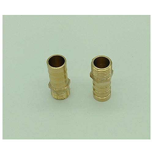 1//4 PT Thread to 12mm Air Pneumatic Connector Hose Barb Fitting Brass Coupling 2pcs
