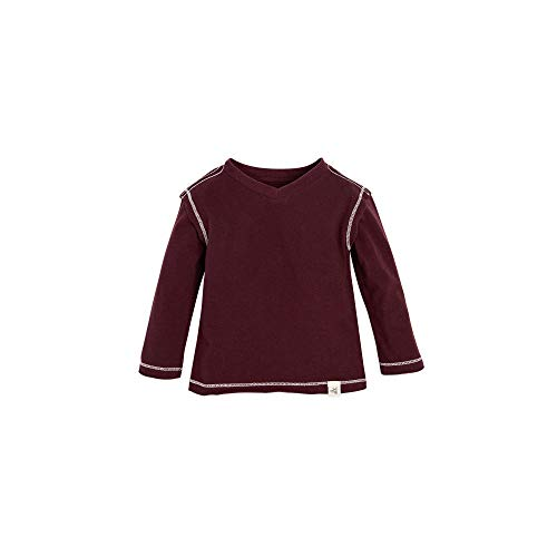 (Burt's Bees Baby Baby Boys T-Shirt, Long Sleeve V-Neck and Crewneck Tees, 100% Organic Cotton, Winter Berry, 3-6 Months)