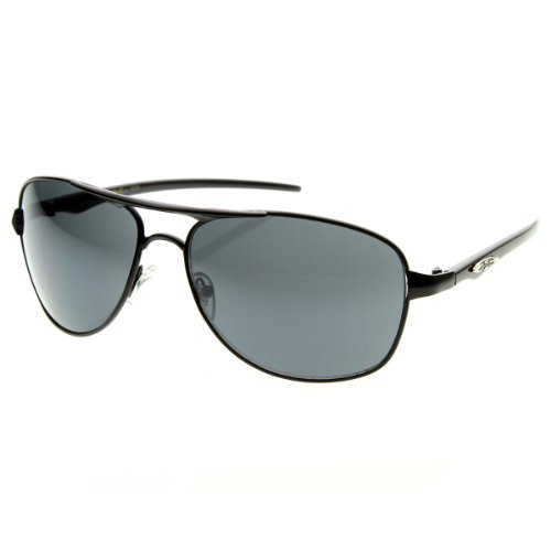 X-Loop - Full Metal Oval Aviator Sports Frame Xloop Sunglasses (Black - Sunglasses Aviator Xloop