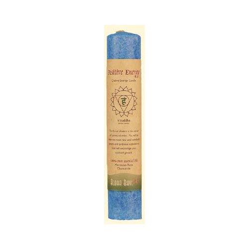 Aloha Bay Chakra Pillar Candle, Positive Energy Blue, 8