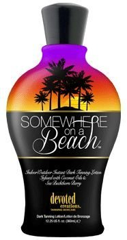 Somewhere on a Beach, Indoor Outdoor, Instant Dark Tanning Lotion 12.25 Ounce (Ultra Bronzer Silicone)