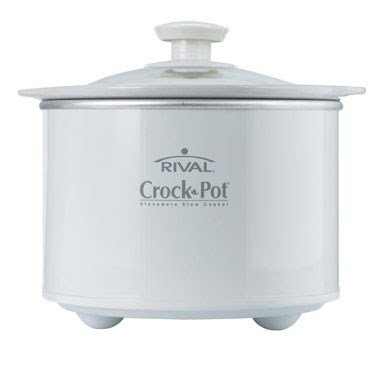 Crock-Pot 1-1/2-Quart Round Manual Slow Cooker, White (SCR151-WG)