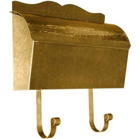 (Provincial Series Roll Top Wall Mount Mailbox in Hammered Antique Brass)