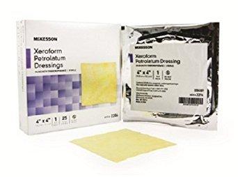 McKesson 2206 Xeroform Petrolatum Gauze Dressing, 4