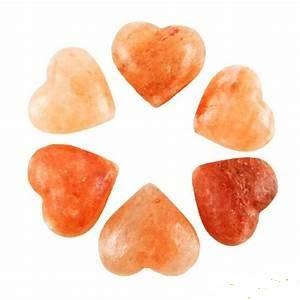 IQ Himalayan Salt Hearts, Salt Massage Heart, Salt Scrub Soap, Foot Detox, Salt Body Wash (6 Pack)