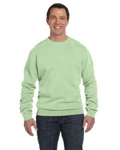 (Authentic Pigment 11 oz. Pigment-Dyed Ringspun Cotton Fleece Crew S CELERY)