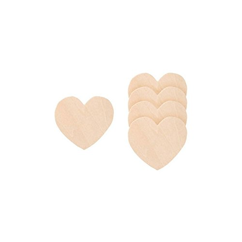 Small Heart Shaped Wood Cutout inches