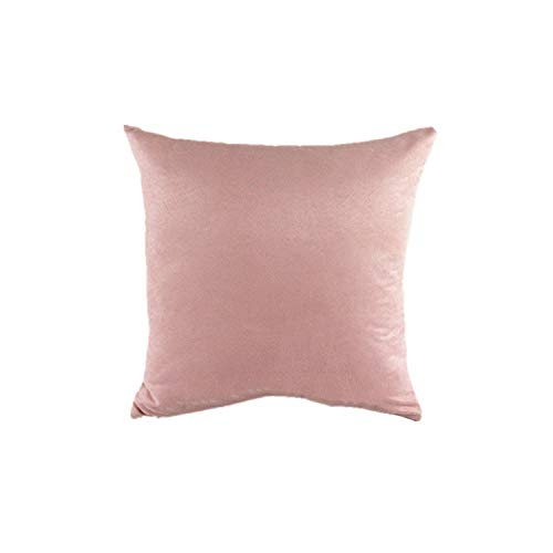 KKK-3boss Direct Sales Fashion Suede Fabric Colorful Pure Pillow Car Chair Cushions for Sofa Home Decor 40X40 45 50,Pink,40X60 Pillow Case