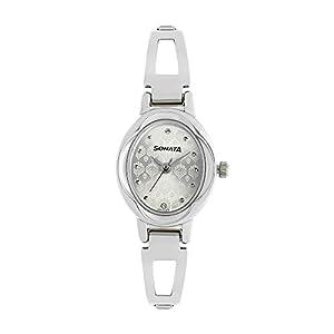 Sonata Pankh Analog Silver Dial Women's Watch NM8085SM02 / NL8085SM02