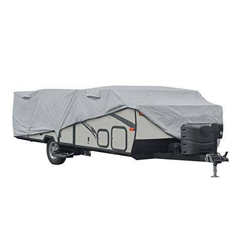 Classic Accessories PermaPro RV Cover for 12#03914#039 Long Folding Camping Trailers Grey Limited