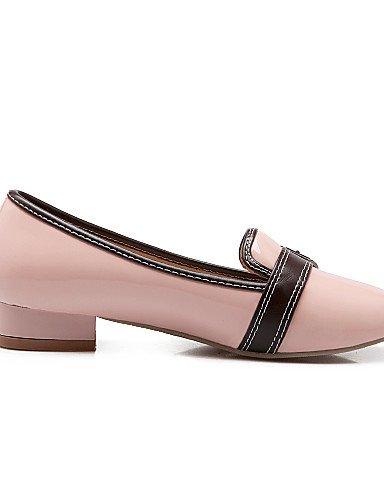 PDX/ Damenschuhe-Ballerinas-Lässig-Kunstleder-Flacher Absatz-Rundeschuh-Schwarz / Rosa / Rot / Beige pink-us4-4.5 / eu34 / uk2-2.5 / cn33