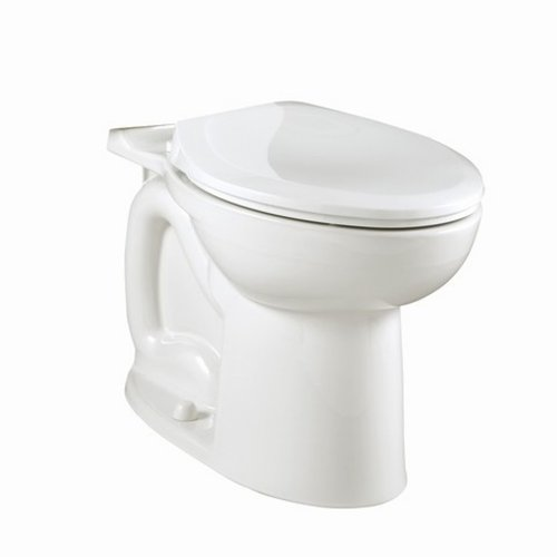 American Standard 3046.016.020 Compact Cadet-3 Elongated Toilet Bowl with Bolt Caps, White (Bowl Only) by American Standard