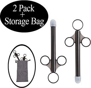[2 Pack+Storage Bag]lube applicator for Women,Men,Precision Female Lubricant Tube applicator with [10ml Precision Markings][Easy use/Clean][Reusable][Silicone][no Disposable]