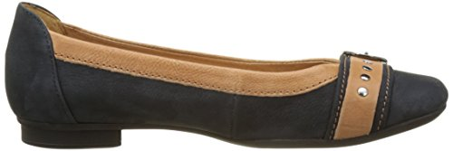 Gabor Shoes Fashion, Bailarinas para Mujer Azul (nightblue/cognac 30)