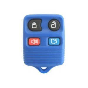 (1999-2008 Blue Ford Mustang Keyless Entry Remote Key Fob w/ Free DIY Programming Instructions & WWR Guide)