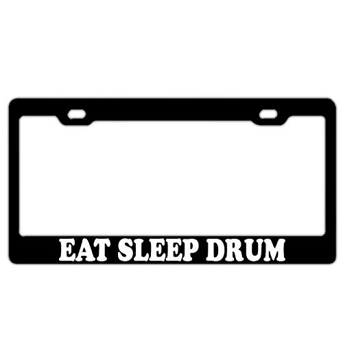 HuiyaoEC Eat Sleep Drum License Plate Frame. FITS All US & Canada Standard Sized 12