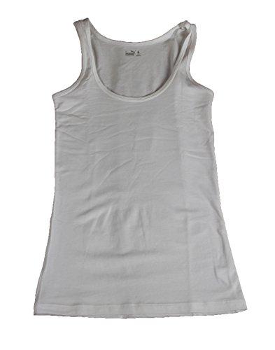 Puma Damen 2er Tank Top Oberteil Shirt Weiss White Tanktop Größe XS