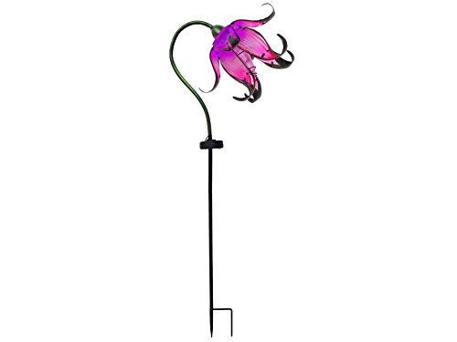 Continental Art Center Inc. CAC17146A Flower DÉCOR Outdoor Solar Yard Art Garden Stake, ()