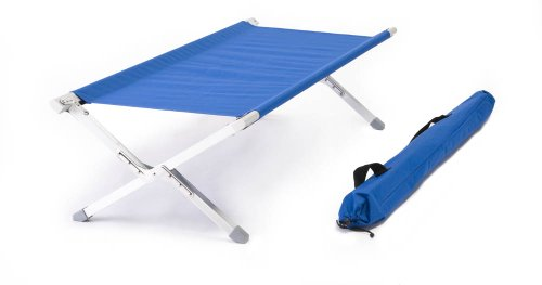 Little Bear Military Aluminum Frame Cot Royal Blue Featuring 600D Washable and Mildew Resistant Polyester Fabric and LED Flashlight!, Outdoor Stuffs