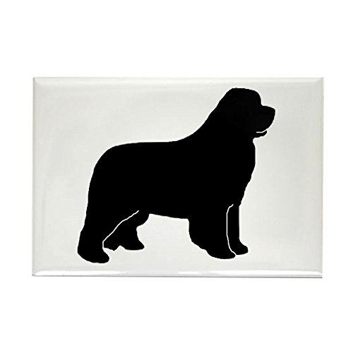 CafePress - Black Newfoundland Dog Rectangle Magnet - Rectangle Magnet, 2