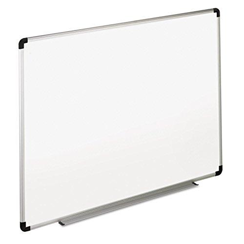 Universal 43723 Dry Erase Board, Melamine, 36 x 24, White, Black/Gray Aluminum/Plastic Frame by instrainclug
