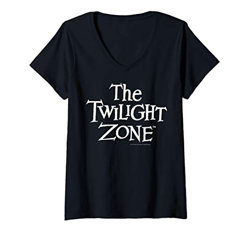 Womens Twilight Zone Simple Title Text V-Neck T-Shirt ()