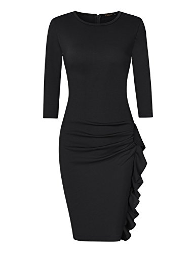 Black Ruffle Dress - 5