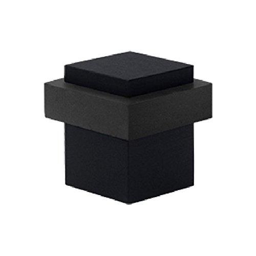 (Deltana UFBS138U19 Solid Brass 1 3/8-Inch Square Universal Floor Bumper)