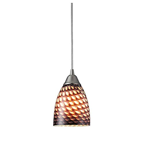 ELK 416-1C-LA, Arco Baleno Mini Cone Pendant, 1 Light, Satin Nickel (Mini Arco Baleno Pendant)